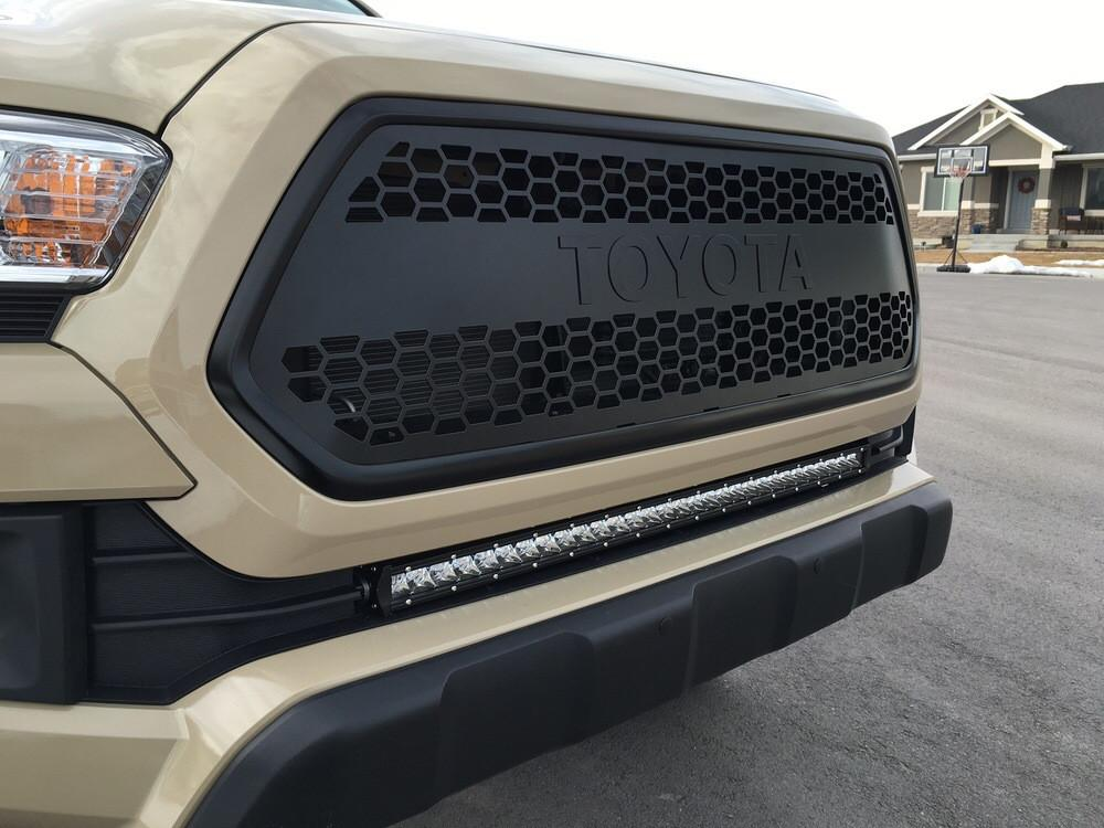 Cali Raised Tacoma 32 in. Light Bar Lower Bumper Flush Slim Light Bar Combo 2016+