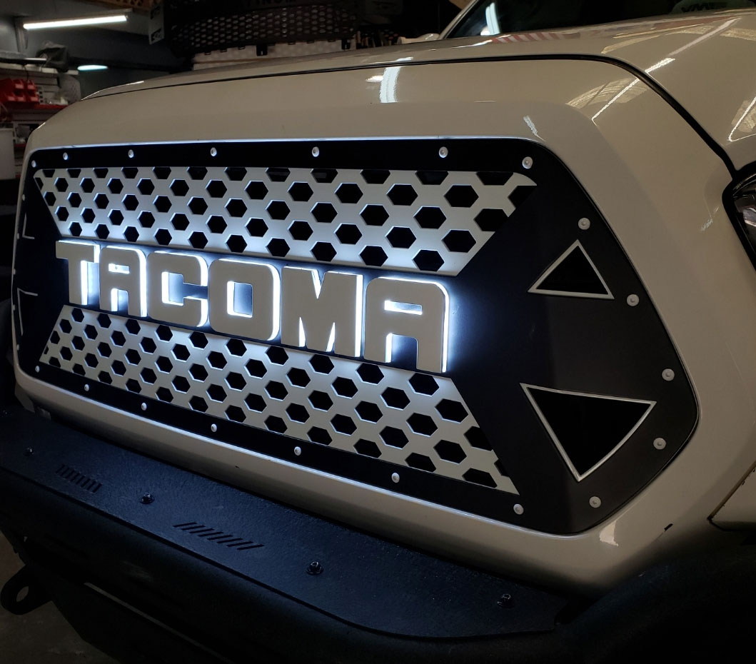 DB Customz Tacoma Drop-In Grille Insert; HALO Glow; 2016-2020