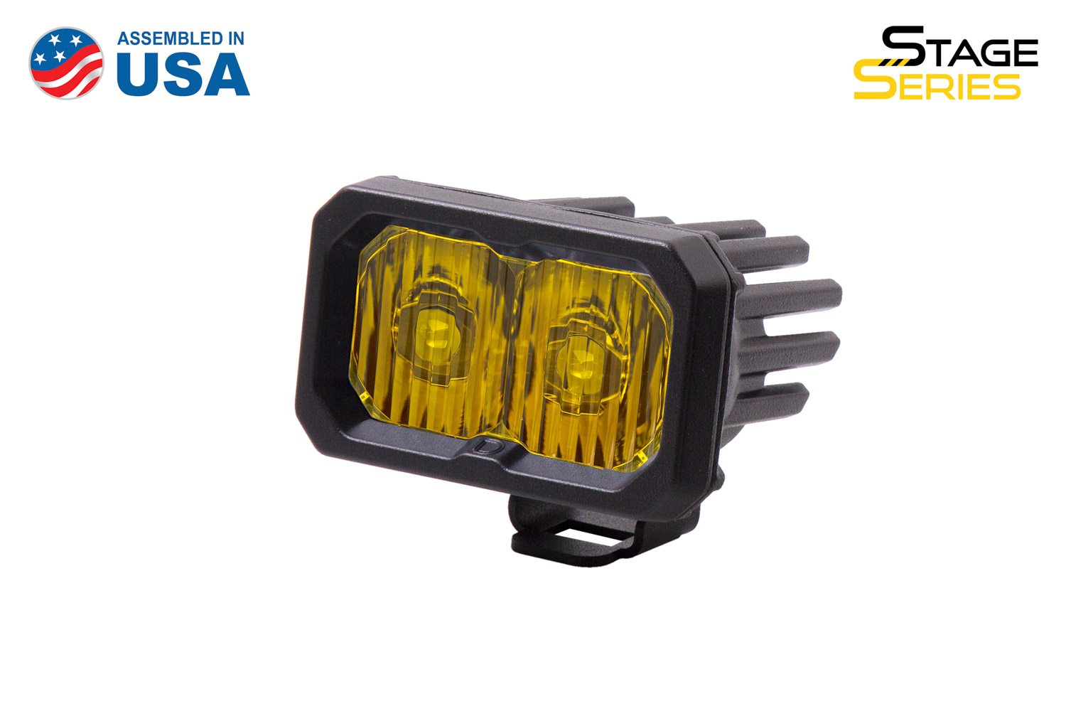 Diode Dynamics Stage Series 2 Inch LED Pod, Sport Yellow Driving Standard ABL Each