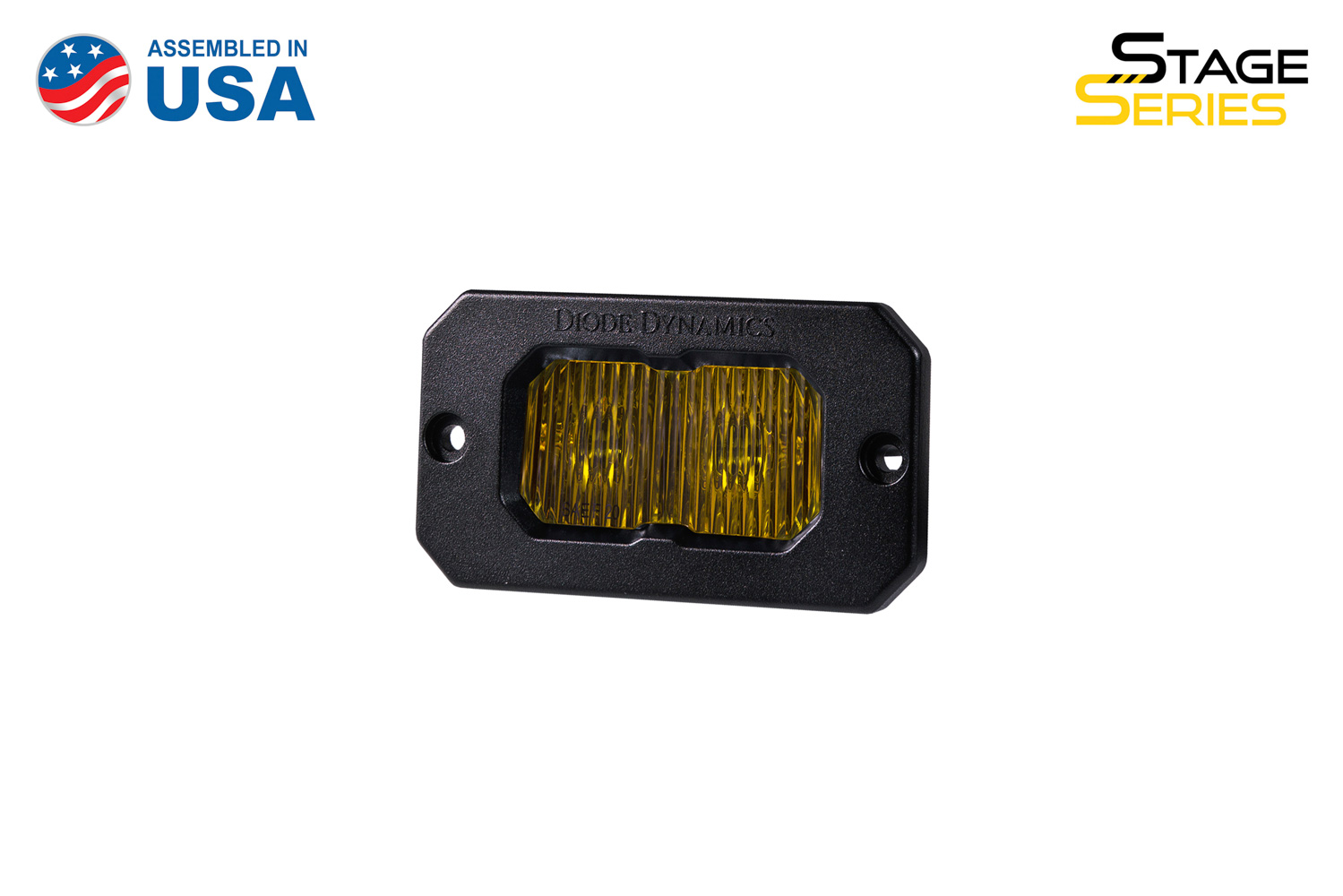 Diode Dynamics Stage Series 2 Inch LED Pod, Sport Yellow Fog Flush ABL Each