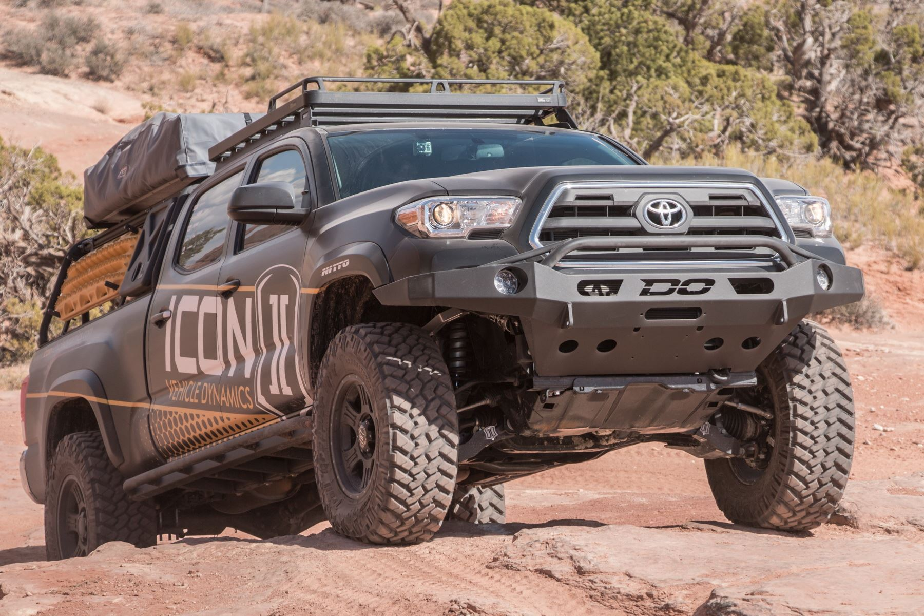 Demello Off-Road Tacoma Low Profile Baja Front Bumper 16-18 Powder coated