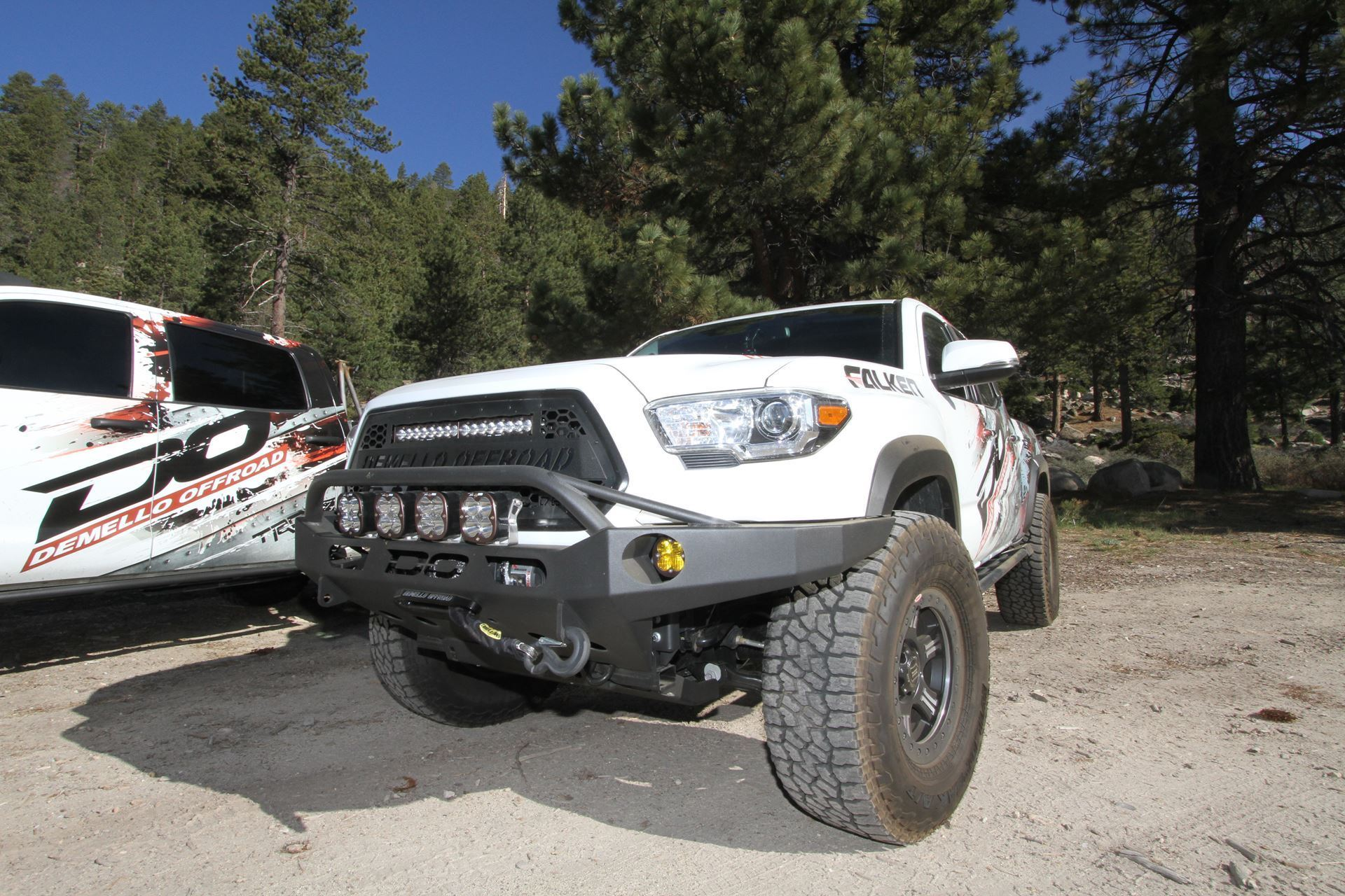 Demello Off-Road Tacoma Baja Front Bumper 16-18 Powder coated
