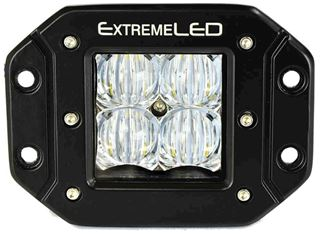 "Extreme Series 5D 3"" LED Light Pod - Flush Mount - Flood Beam"