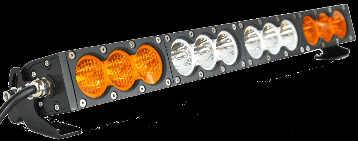X6 10w Series 2d Amber White 32 Single Row Led Light Bar 17 100 Lumens