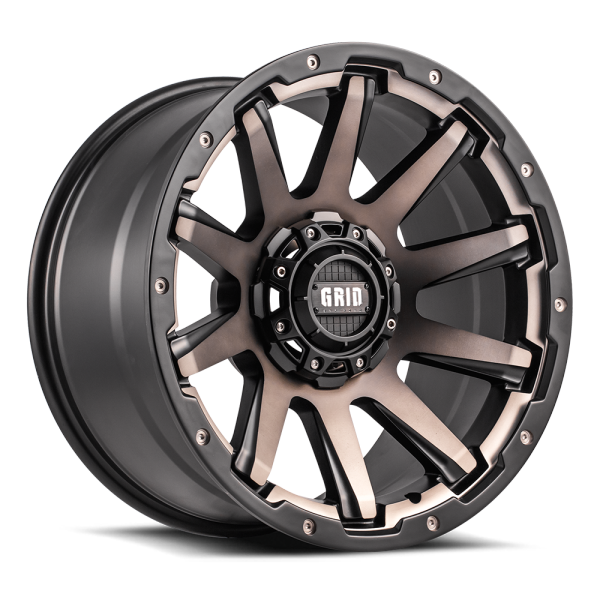 Grid Off-ROad GD Series Metallic Dust w/Matte BLack