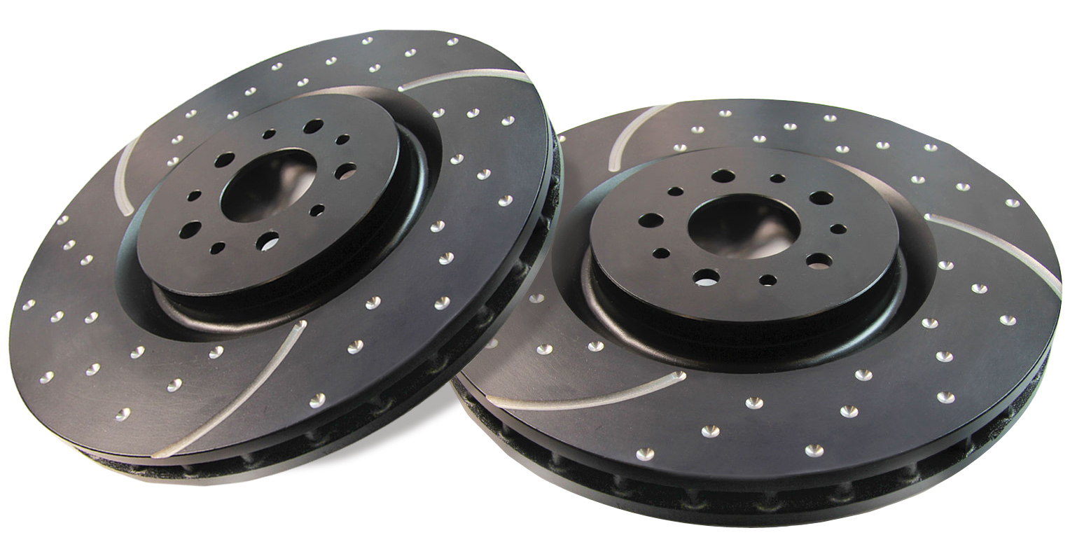 EBC FRONT Left And Right Brake Disc - Drilled And Slotted 2005-2015 Tacoma 4WD 6-LUG