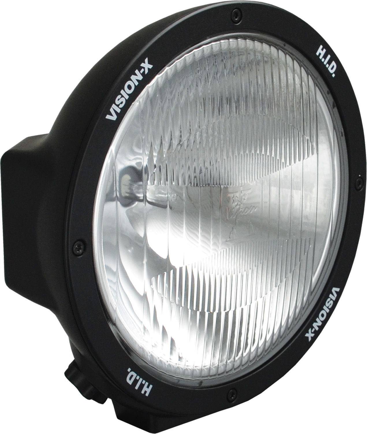 "8.7"" ROUND BLACK 50 WATT HID EURO LAMP"