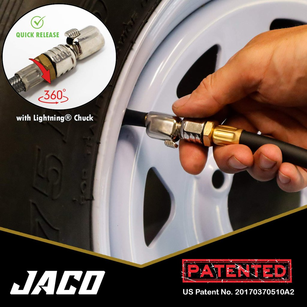 *NEW* - JACO FlowPro Tire Inflator with Pressure Gauge - 100 PSI
