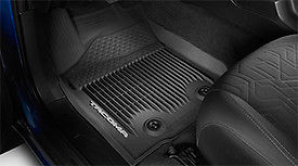 All Weather Floor Liners Regular Cab Tacoma Auto Black 2016+