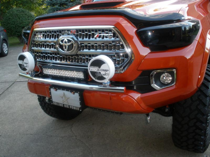 N-FAB Front Off-Road Light Bar With Tabs for 2016+ Tacoma - Gloss Black
