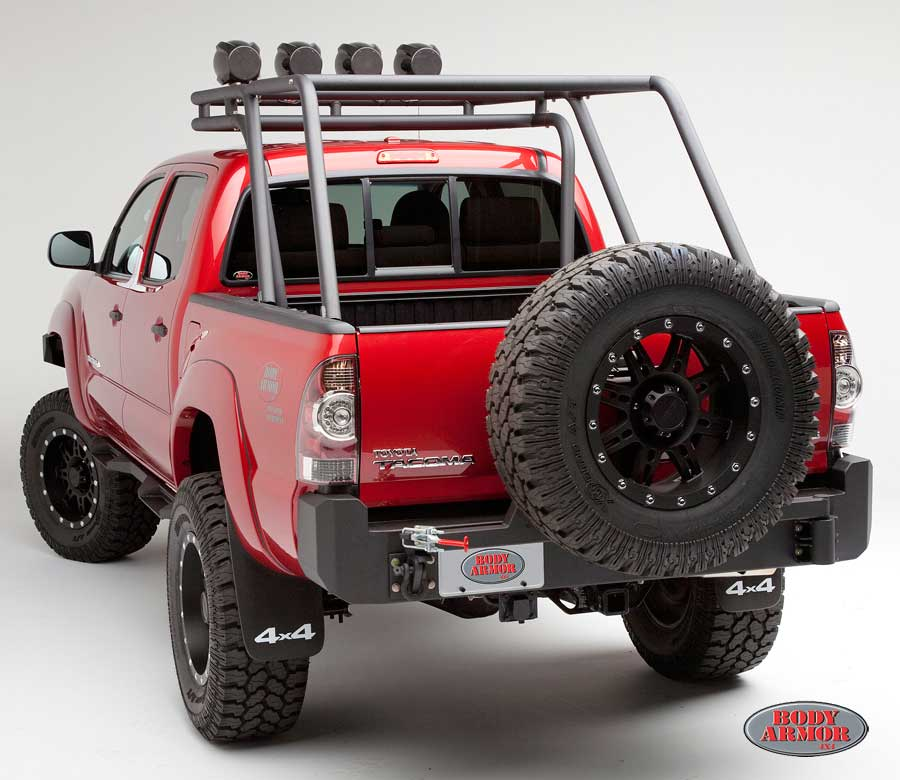 Body Armor Toyota Tacoma Rear Bumper 2005-2015 [TC-2961 ...