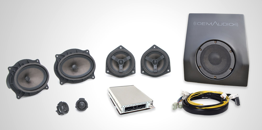 OEM Audio Plus Stereo Kit | Reference 500 2016+ Toyota Tacoma (Dbl Cab)