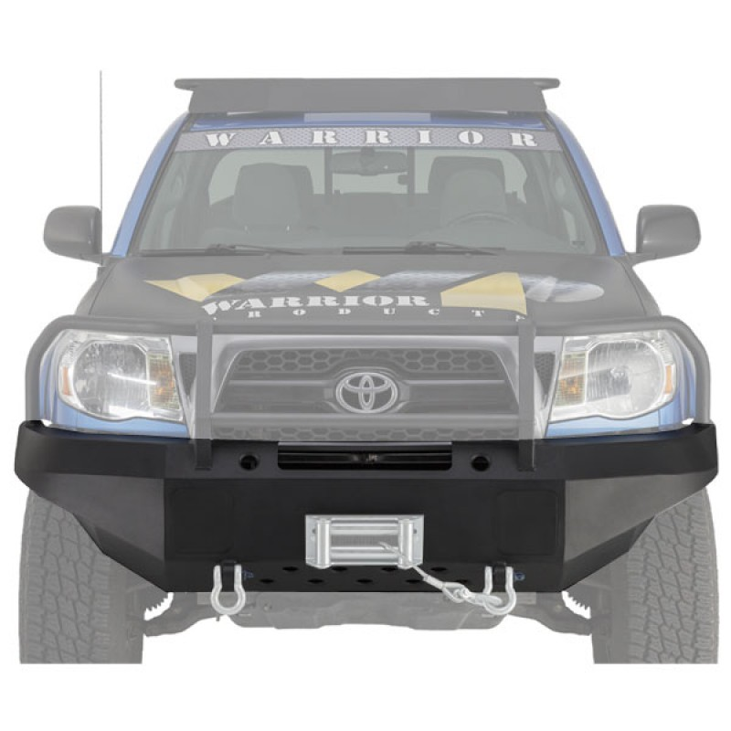 Warrior Tacoma Front Winch Bumper w/ D-ring mts and Light Plates 2012-2015