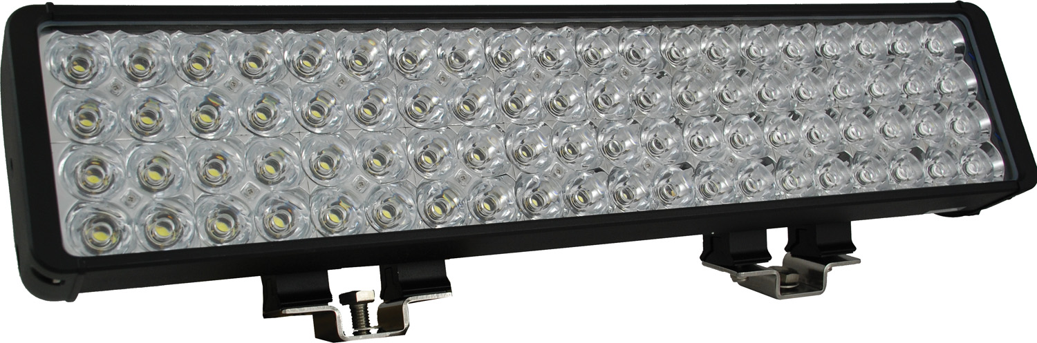"22"" XMITTER DOUBLE BAR BLACK 80 3W LED'S EURO"