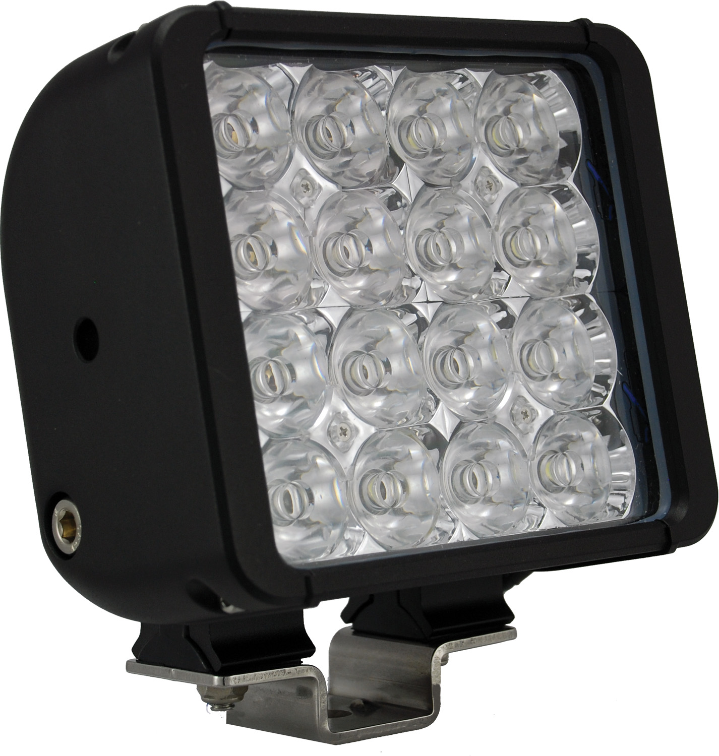 "6"" XMITTER DOUBLE BAR BLACK 16 3W LED'S EURO"