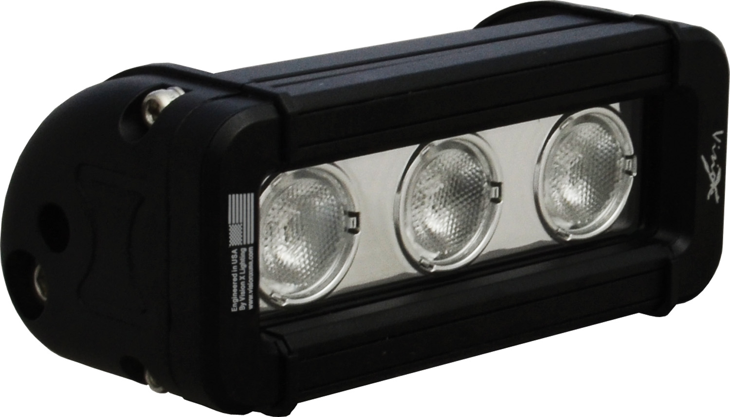 "5"" XMITTER LOW PROFILE BLACK 3 3W LED'S 40ç WIDE"