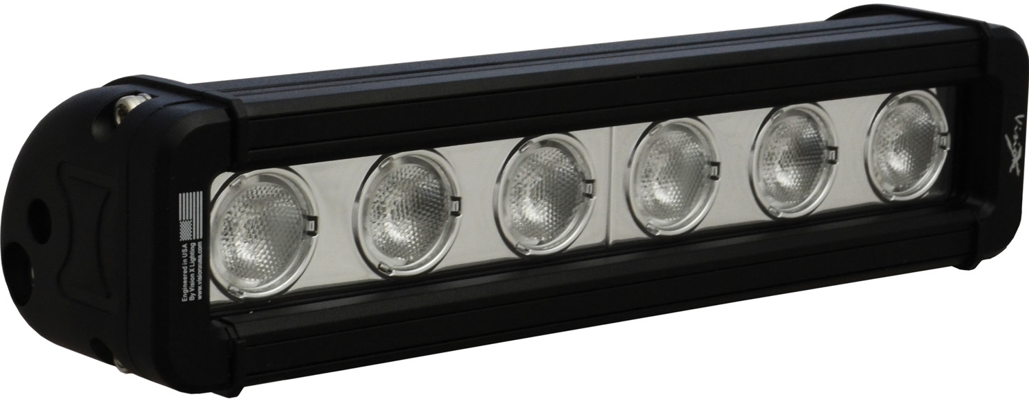 "9"" XMITTER LOW PROFILE BLACK 6 3W LED'S 40? WIDE"