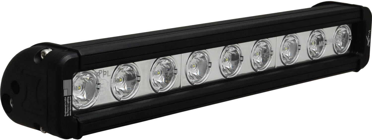 "12"" XMITTER LOW PROFILE BLACK 9 3W LED'S 10? NARROW"