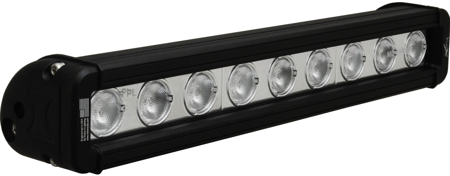 "12"" XMITTER LOW PROFILE BLACK 9 3W LED'S 40? WIDE"