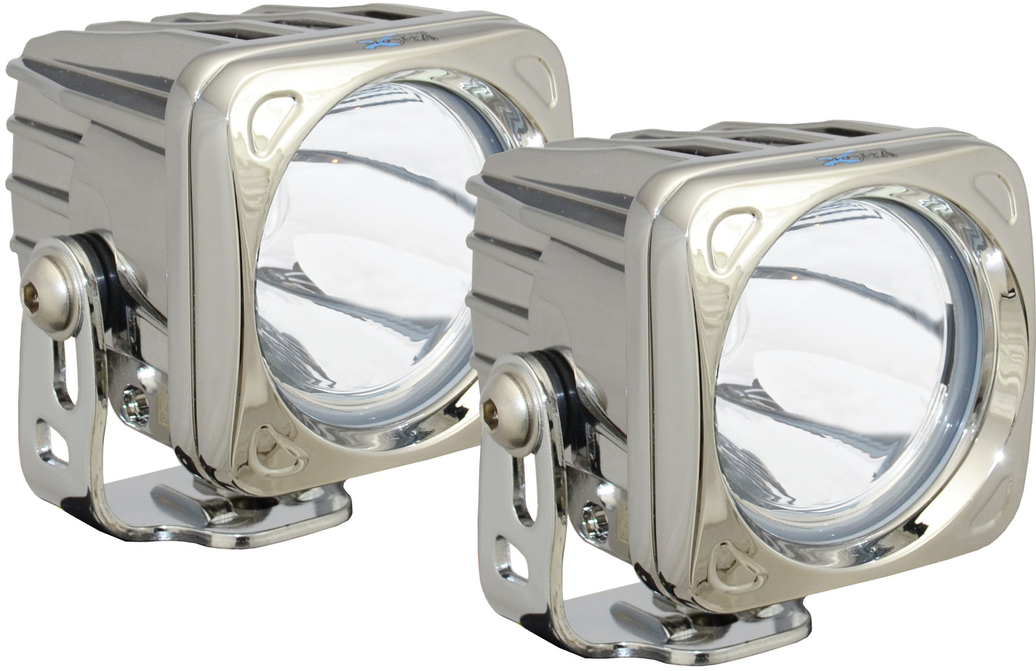 OPTIMUS SQUARE CHROME 1 10W LED 10° NARROW KIT OF 2 LIGHTS