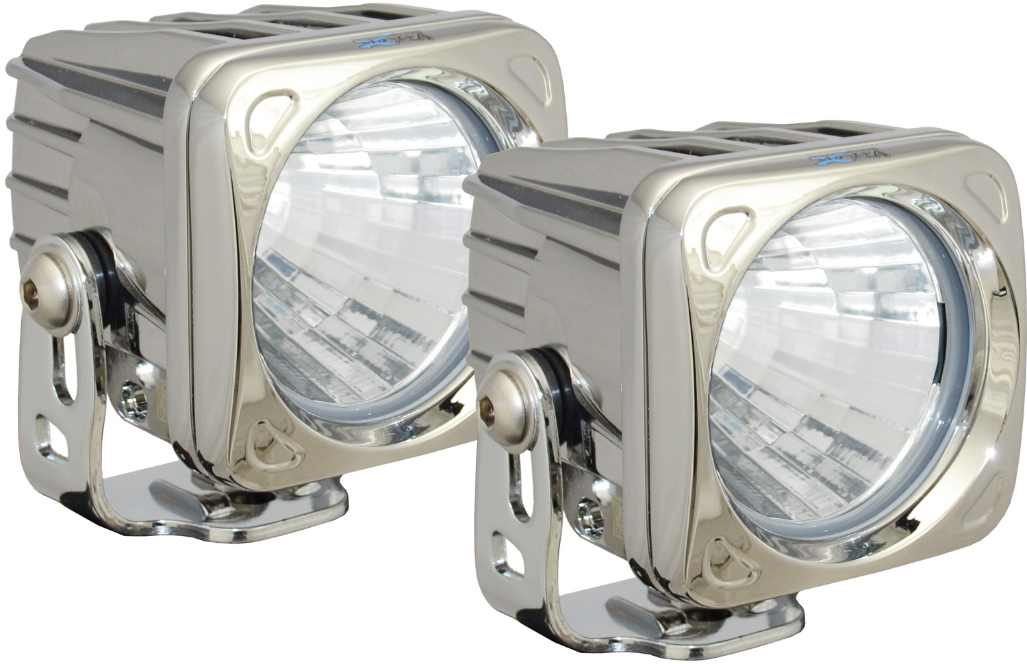 OPTIMUS SQUARE CHROME 1 10W LED 20° MEDIUM KIT OF 2 LIGHTS