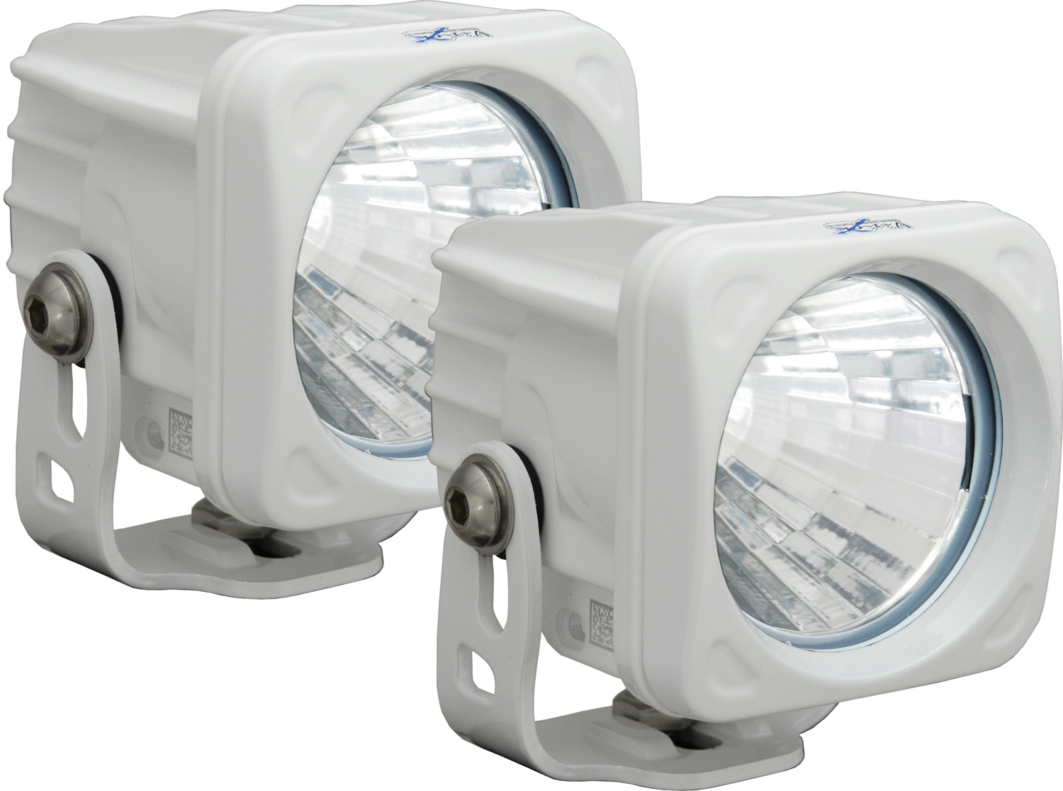 OPTIMUS SQUARE WHITE 1 10W LED 20° MEDIUM KIT OF 2 LIGHTS