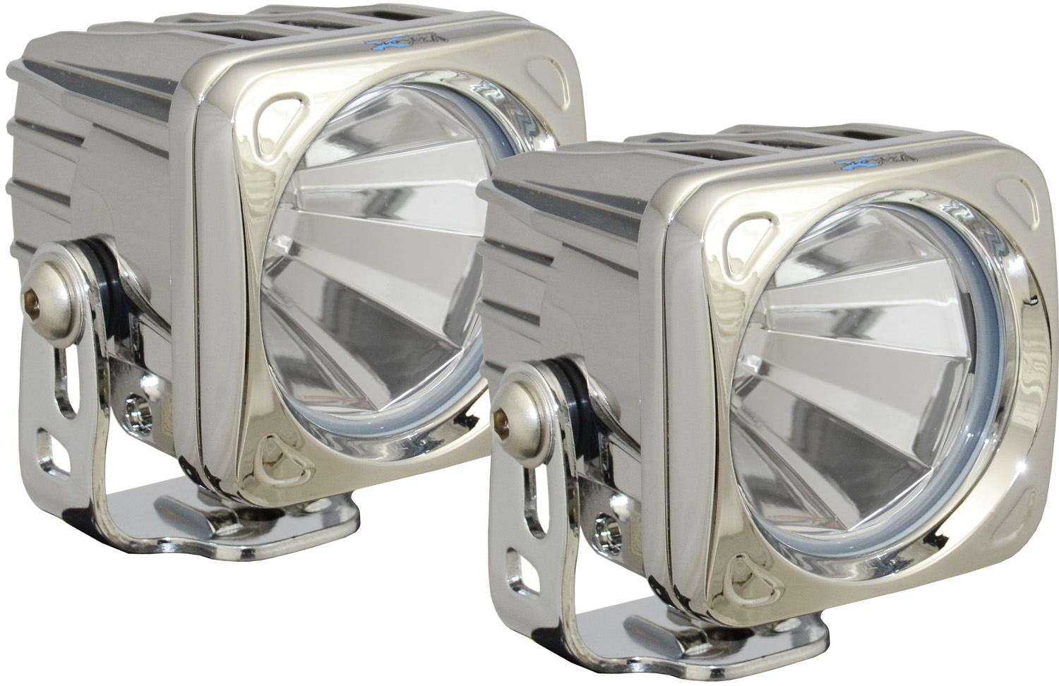 OPTIMUS SQUARE CHROME 1 10W LED 60° FLOOD KIT OF 2 LIGHTS