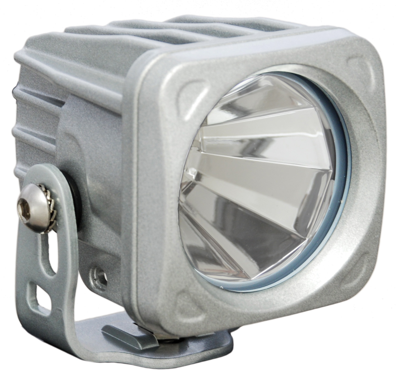 OPTIMUS SQUARE SILVER 1 10W LED 60° FLOOD