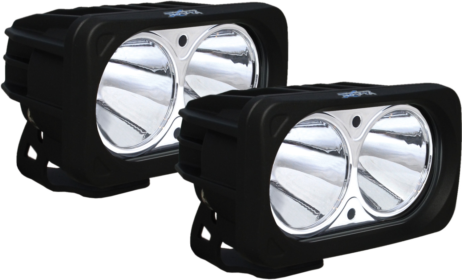OPTIMUS SQUARE BLACK 2 10W LEDS 10° NARROW KIT OF 2 LIGHTS