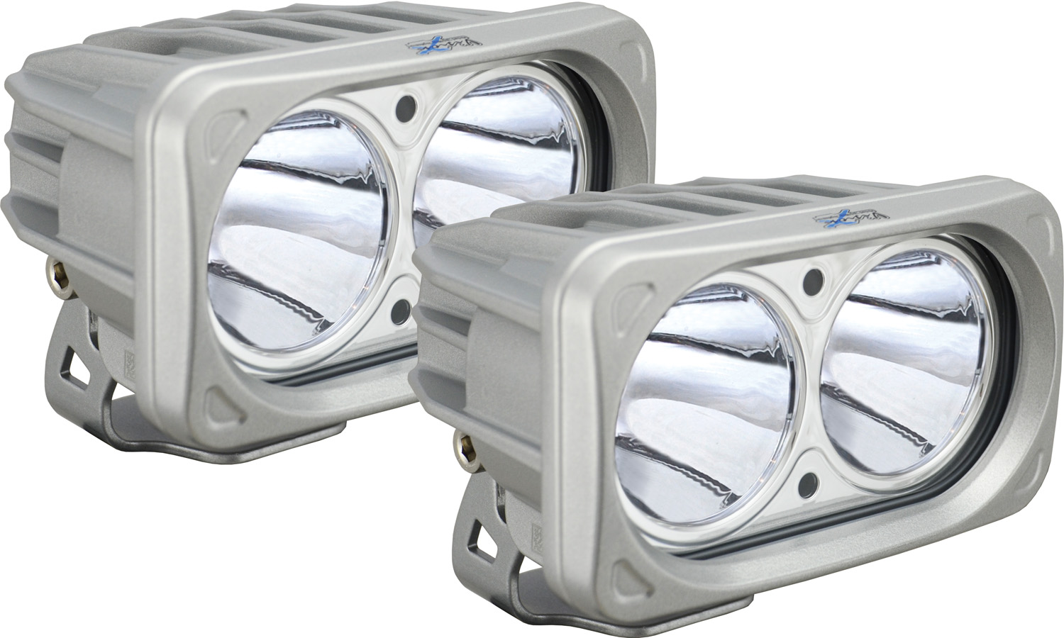 OPTIMUS SQUARE SILVER 2 10W LEDS 10° NARROW KIT OF 2 LIGHTS