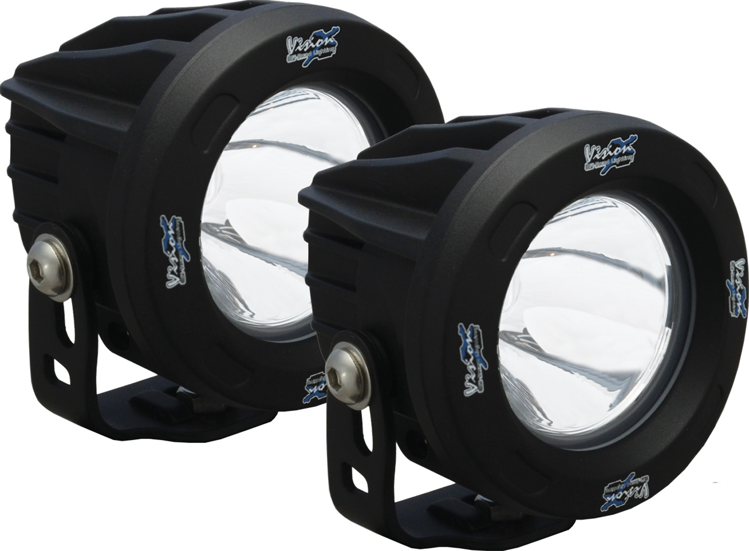 OPTIMUS ROUND BLACK 1 10W LED 10? NARROW KIT OF 2 LIGHTS