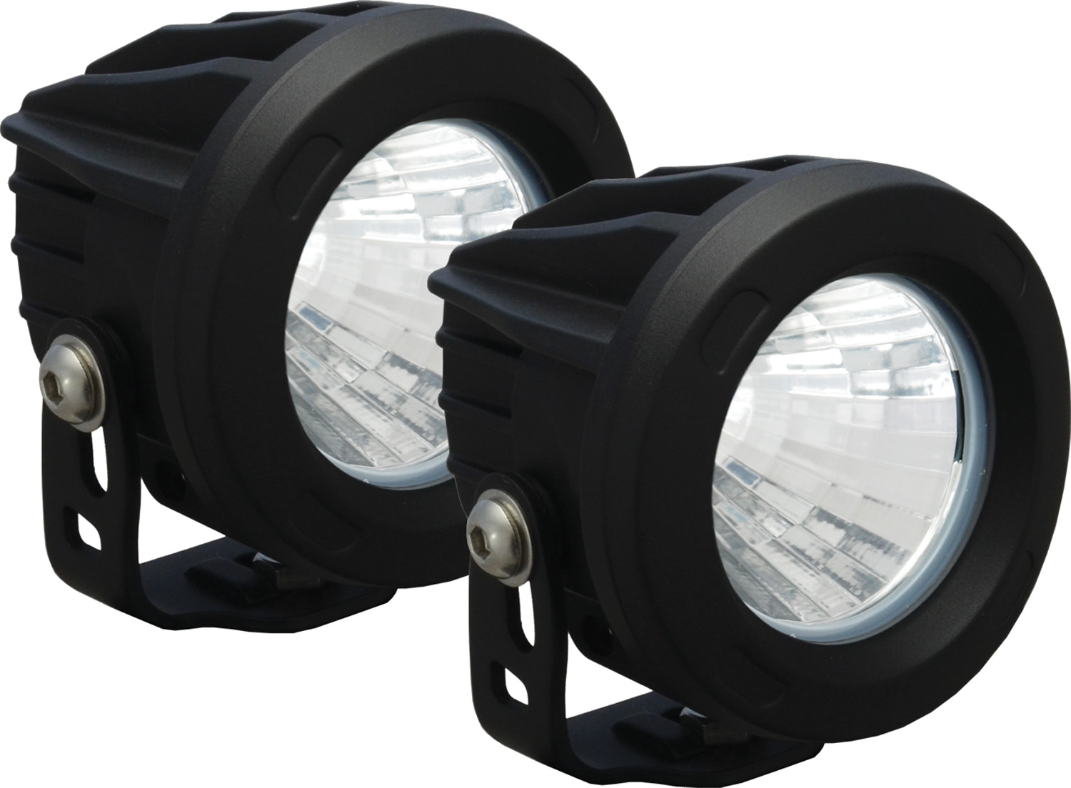 OPTIMUS ROUND BLACK 1 10W LED 20? MEDIUM KIT OF 2 LIGHTS