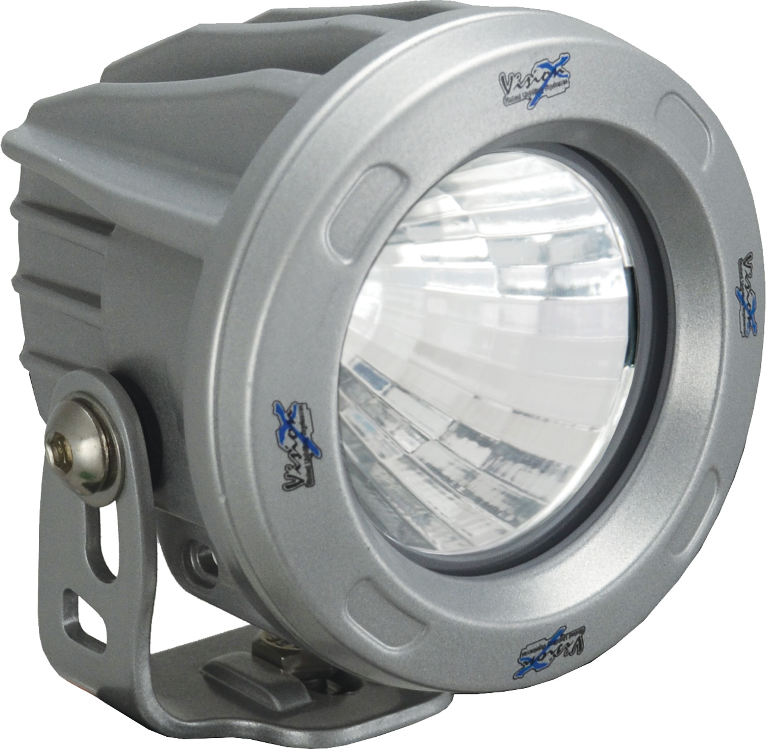 OPTIMUS ROUND SILVER 1 10W LED 20? MEDIUM