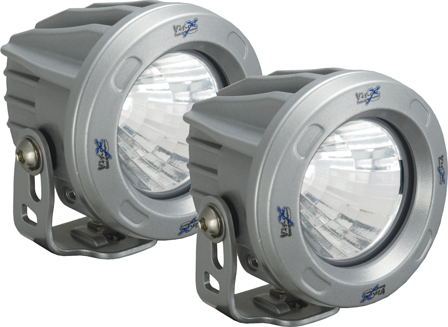 OPTIMUS ROUND SILVER 1 10W LED 10? NARROW KIT OF 2 LIGHTS
