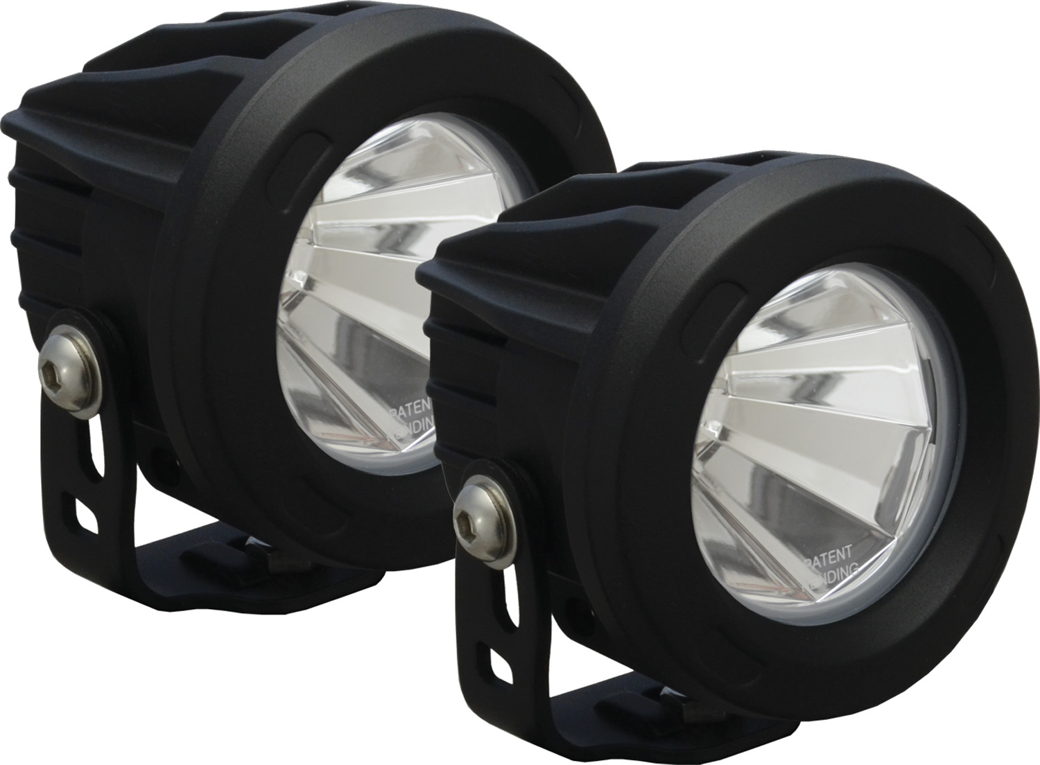 OPTIMUS ROUND BLACK 1 10W LED 60? FLOOD KIT OF 2 LIGHTS