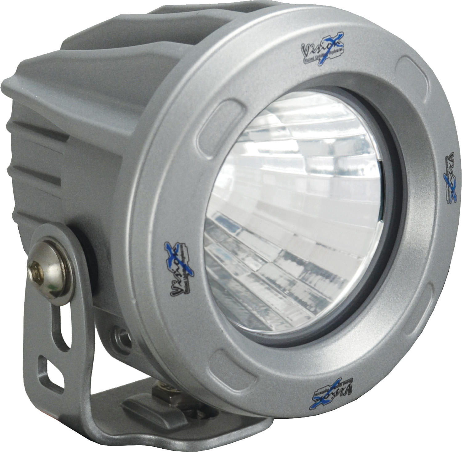 OPTIMUS ROUND SILVER 1 10W LED 60? FLOOD