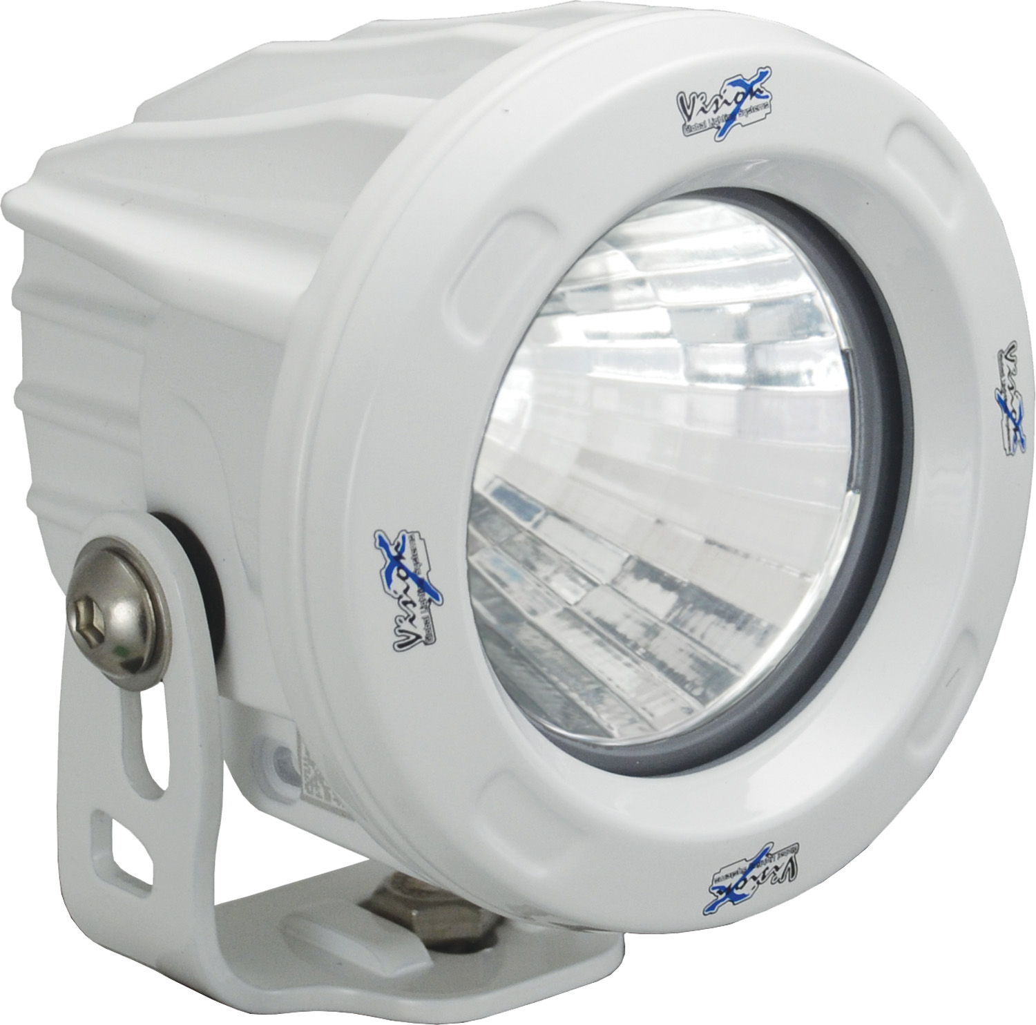 OPTIMUS ROUND WHITE 1 10W LED 60? FLOOD