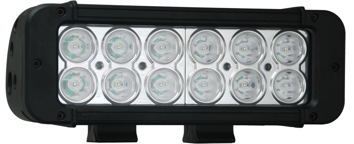 "8"" XMITTER PRIME LED BAR BLACK TWELEVE 3-WATT LED'S 10 DEGREE NARROW BEAM"