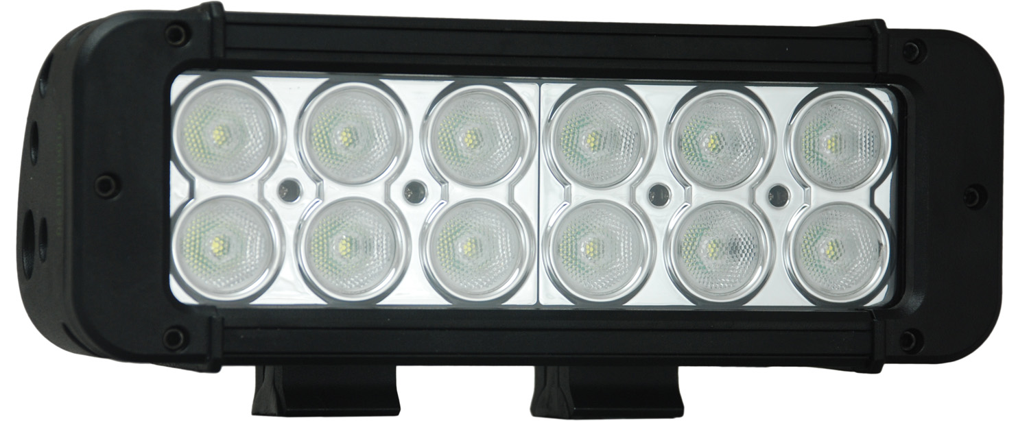 "8"" XMITTER PRIME LED BAR BLACK TWELEVE 3-WATT LED'S 40 DEGREE WIDE BEAM"
