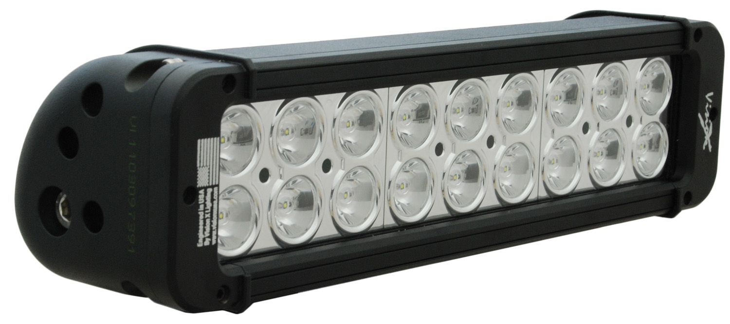 "11"" XMITTER PRIME LED BAR BLACK EIGHTEEN 3-WATT LED'S 10 DEGREE NARROW BEAM"
