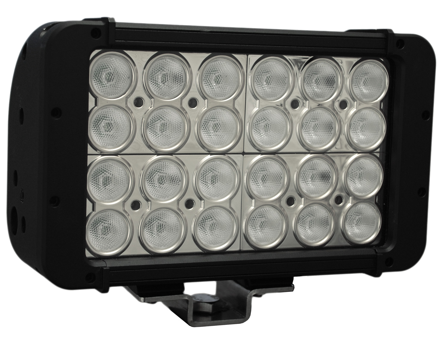 "8"" XMITTER PRIME DOUBLE STACK LED BAR BLACK TWENTY FOUR 3-WATT LED'S 10 DEGREE NARROW BEAM"