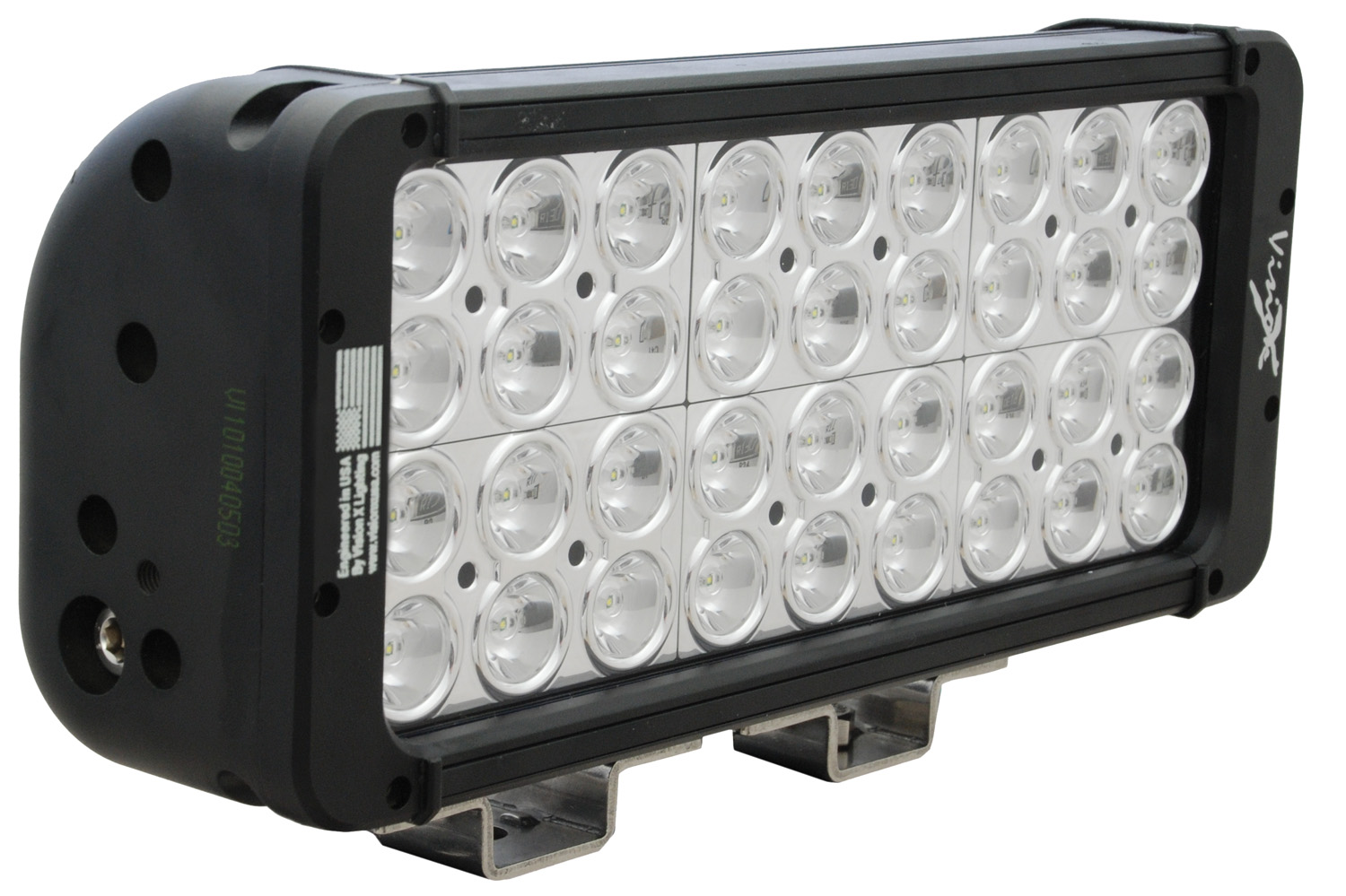 "11"" XMITTER PRIME DOUBLE STACK LED BAR BLACK THIRTY SIX 3-WATT LED'S 10 DEGREE NARROW BEAM"