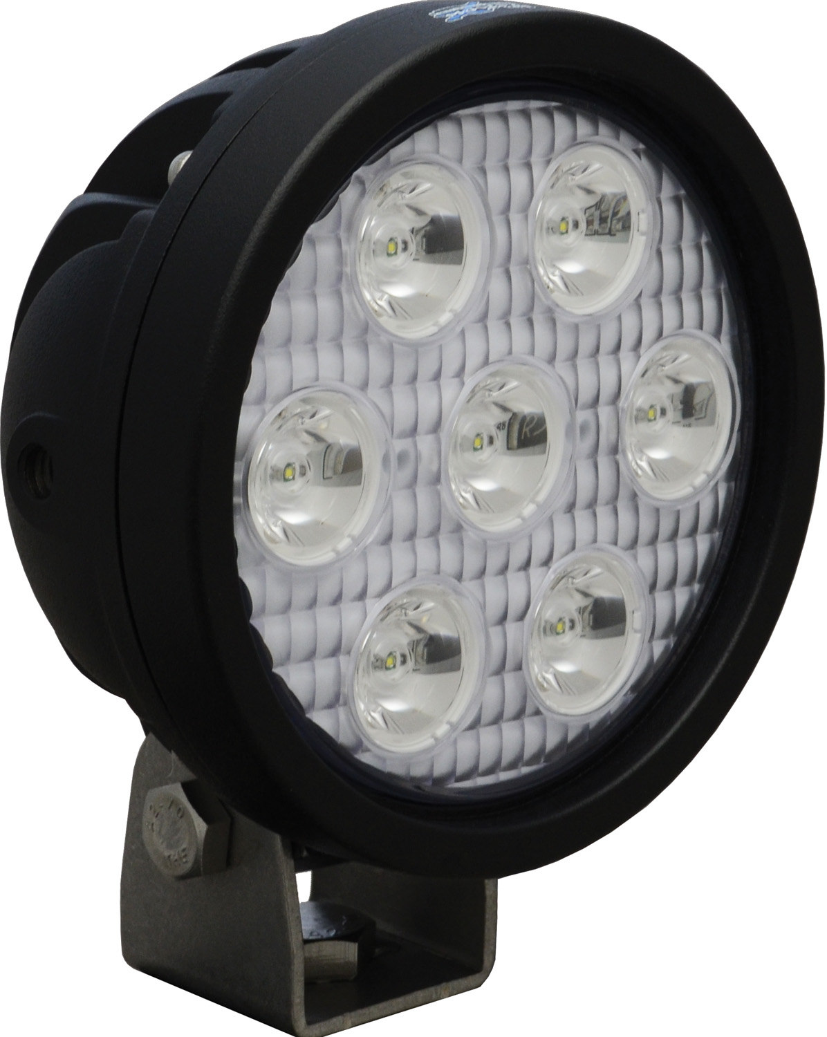 "4"" ROUND UTILITY MARKET BLACK 7 3W LED'S 10ç NARROW"