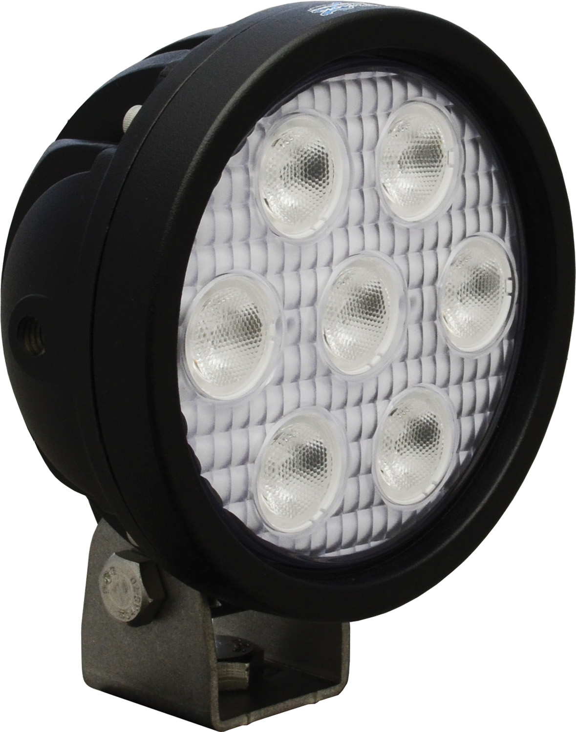 "4"" ROUND UTILITY MARKET BLACK 7 3W RED LED'S 40? WIDE"