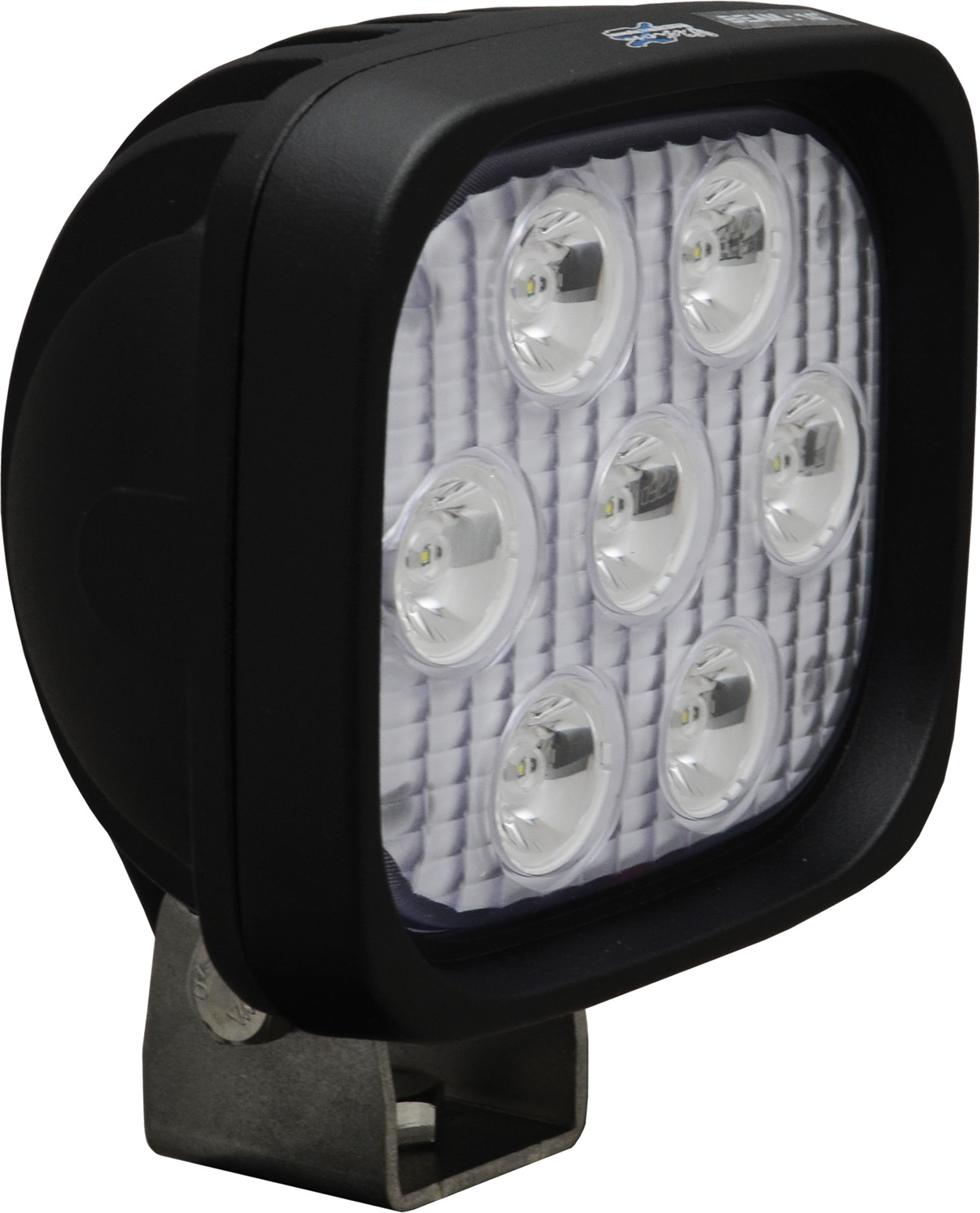 "4"" SQUARE UTILITY MARKET BLACK 7 3W LED'S 10? NARROW"