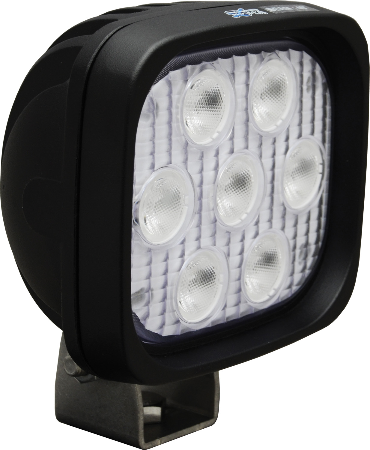 "4"" SQUARE UTILITY MARKET BLACK 7 3W AMBER LED'S 40? WIDE"