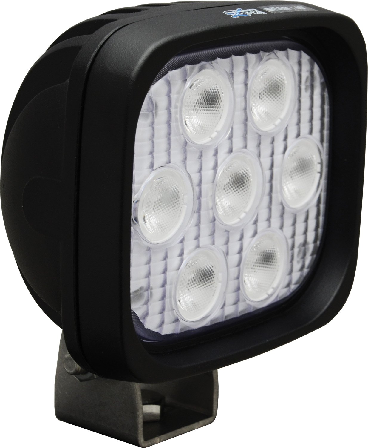 "4"" SQUARE UTILITY MARKET BLACK 7 3W BLUE LED'S 40? WIDE"