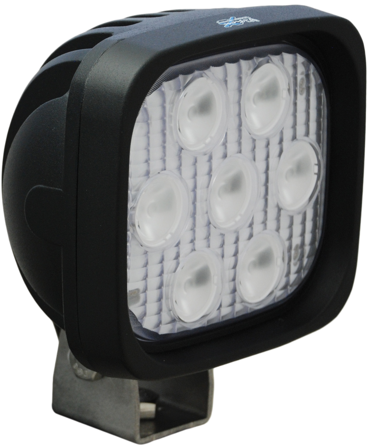 "4"" SQUARE UTILITY MARKET BLACK 7 3W LED'S 60ç EXTRA WIDE"