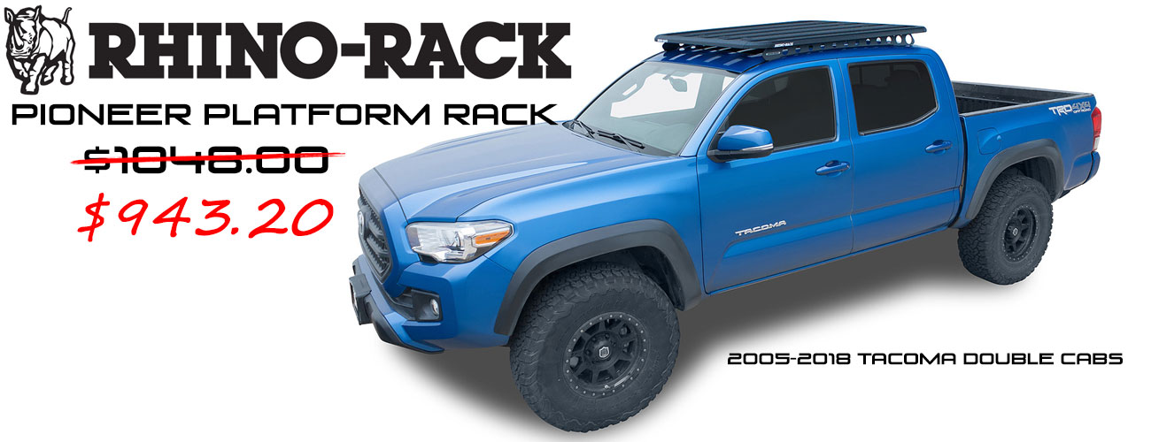 Outfit your Taco with Rhino-Rack Accessories!