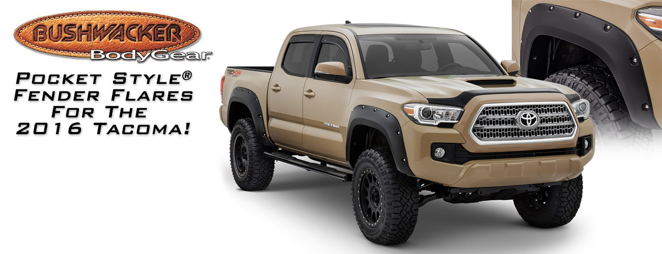 POCKET STYLE® FENDER FLARES FOR THE 2016 TOYOTA TACOMA